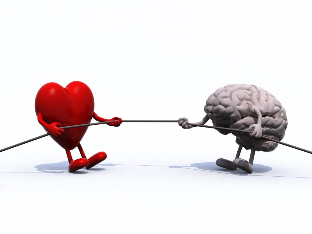 heart and brain tug of war rope
